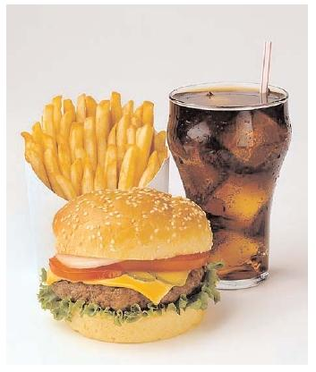... food burger. Over time the popularity of fast foods in America