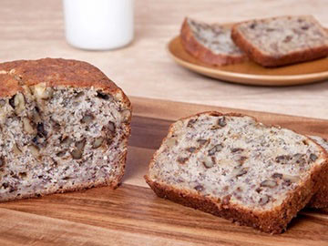 Low-Fat Banana-Walnut Bread