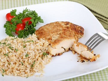 how to cook breaded chicken breast in oven