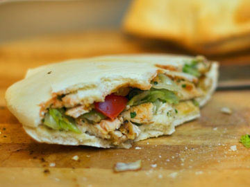 Chicken & Pear Pitas