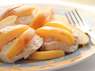 Baked Chicken with Quinces