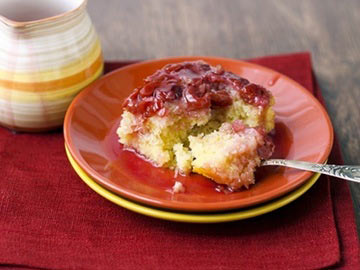 Upside-Down Cranberry-Ginger Cake - Recipe Contest Winner