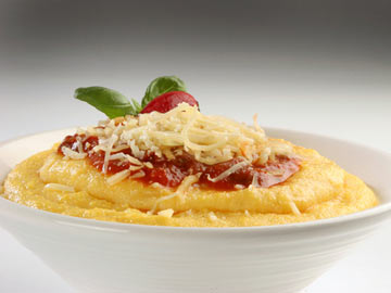 Creamy Polenta with Cherry Tomato Relish