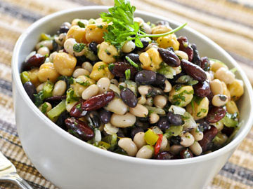bean and wax bean salad three bean salad black bean salad colours of ...