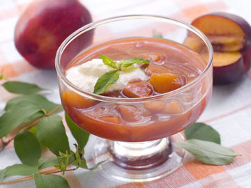 Plum-Raspberry Dessert Soup
