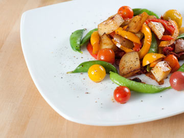 Spring Veggie Sauté : Sweet onion, asparagus and new potatoes add ...