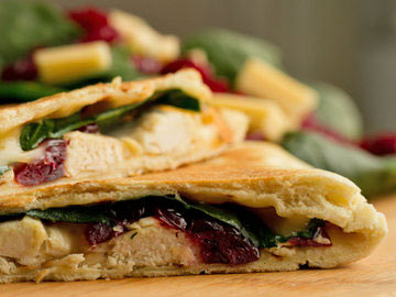 Turkey-Cranberry Quesadilla