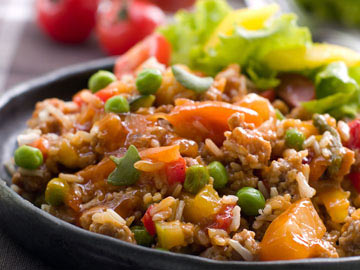 Garden Vegetable Rice Salad