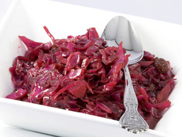Warm Red Cabbage Bacon Salad