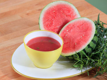 Jeweled Watermelon Soup -Dietitian's Choice Recipe