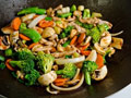 Stir fry Veggie Toss with Peanut