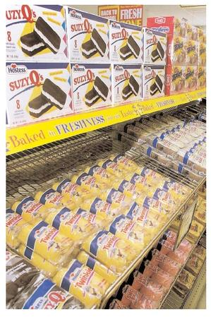 The legendary longevity of some packaged foods such as Twinkies, is attributable in part to food additives that stabilize ingredients and prevent spoilage. Additives also enhance the nutrition, flavor, and consistency of foods. [Photograph by Orlin Wagner. AP/Wide World Photos. Reproduced by permission.]