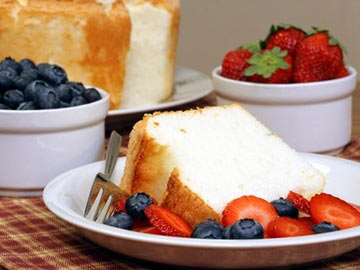 Red, White and Blue Angel Food Cake