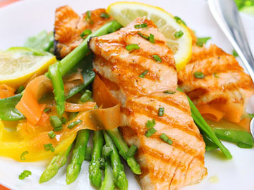 Apricot-Glazed Salmon