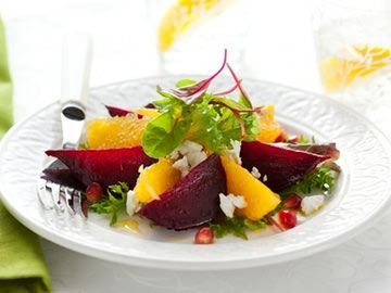 Beet, Orange & Goat Cheese Salad