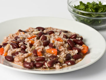 Tricolor Black Beans and Rice