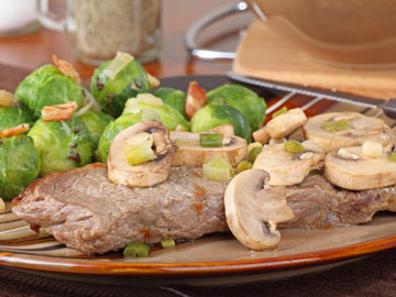 Brussels Sprouts with Mushroom Sauce