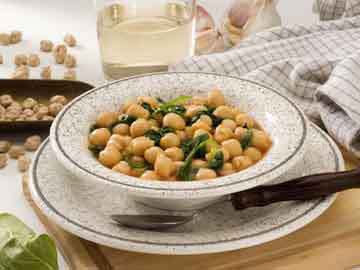 Greek Chickpeas and Spinach