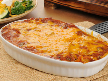 Spinach and Mushroom Enchilada Casserole - Dietitian's Choice Recipe