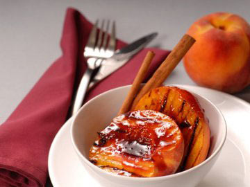 Grilled Peaches on the Half Shell