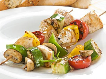 Lemony Chicken Kabobs