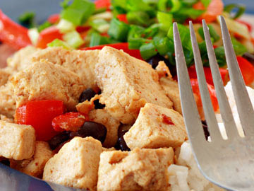 Mexican Tofu in Tin Foil - Gluten Free