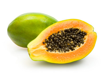 Papaya, Black Beans and Rice