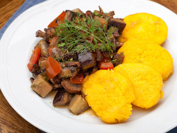 Ratatouille with Polenta
