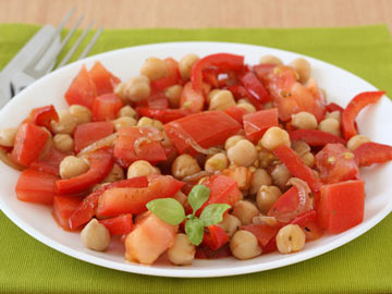 Chickpeas with Sun-Dried Tomatoes