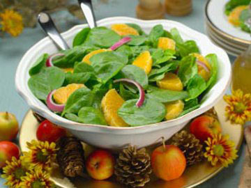 Spinach-Chicken Mandarin Salad