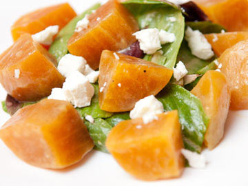 Spinach, Goat Cheese and Pear Salad