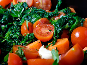 Savory Spinach with Tomatoes