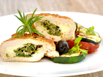 Chicken Stuffed with Ricotta and Spinach - Gluten Free