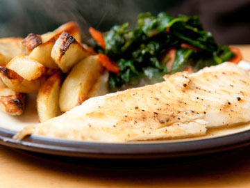 Tilapia with Spinach and Tomatoes - Gluten Free