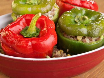 Vegetarian Stuffed Peppers - Gluten Free