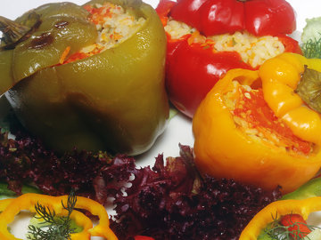 Vegetarian Stuffed Peppers - Lactose Free