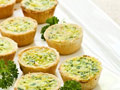 Vegetable Quiche Mini Cups